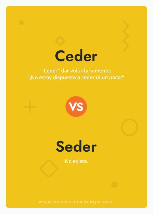 Ceder o Seder - ¿Cómo se escribe?