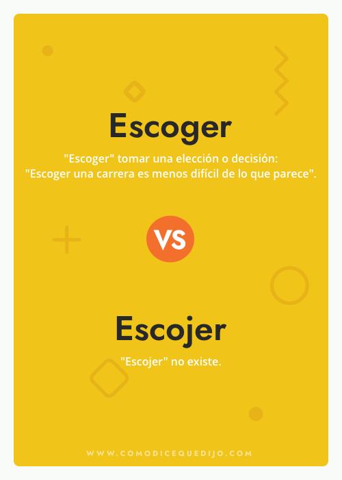 Escoger o Escojer - Cómo se escribe