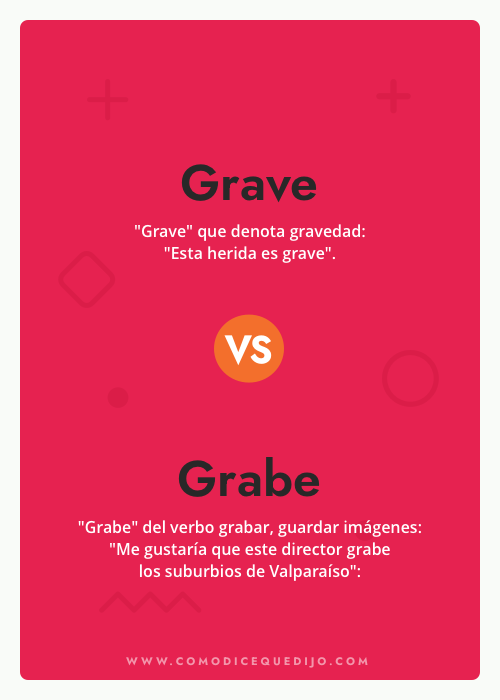 Grave o Grabe - Cómo se escribe
