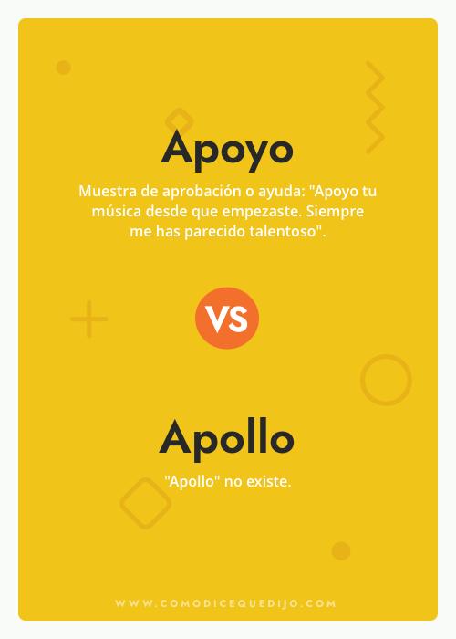 Apoyo o Apollo - ¿Cómo se escribe?