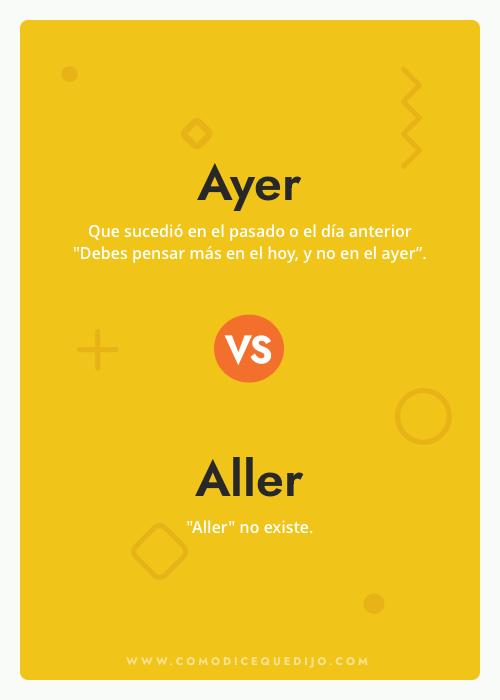 Ayer o Aller - ¿Cómo se escribe?