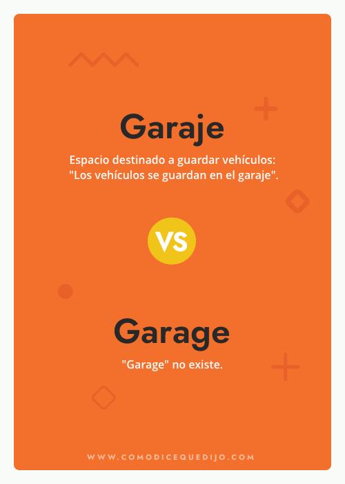 Garaje o Garage - ¿Cómo se escribe?