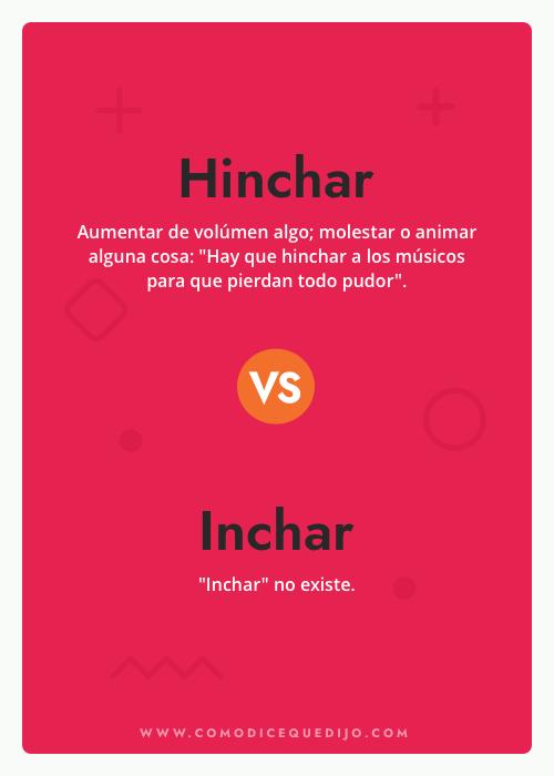 Hinchar o Inchar - ¿Cómo se escribe?