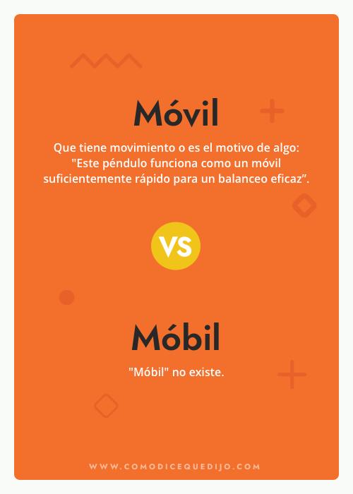 Móvil o Móbil - ¿Cómo se escribe?